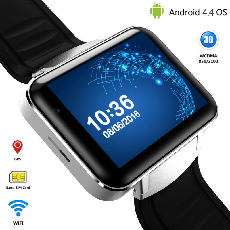 3G Android Smart Watch Phone Bluetooth Quad Core Sports Wristwatch DM98 Smartwatch Supports WCDMA GPS Wifi Whatsapp Skype 2017 domino dm98 3g smartwatch phone