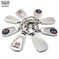 KeyRing For Alfa Romeo Audi Nissan Ford Chevrolet MINI Cooper Peugeot Logo Metal KeyChain Badge Key Ring Emblem Key Holder Chain