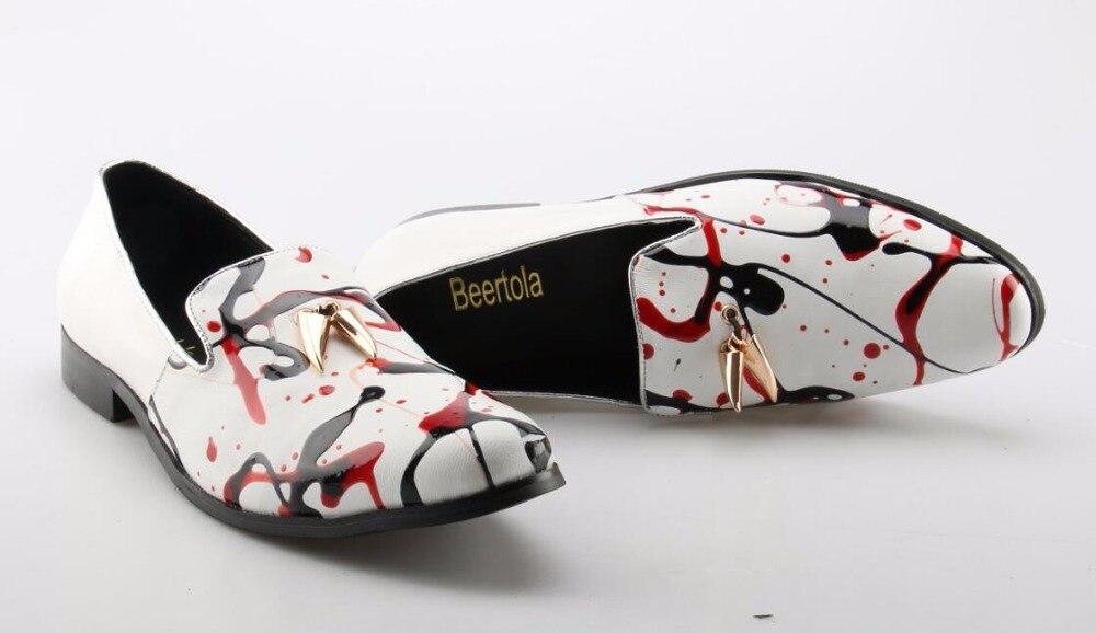 Beertola Picture Do Colorido Apartamentos Projetistas as 5 Sapatos Homens Picture As Dedo Palma Pé Para Metal Graffiti Impressão Homem Waterprool Redondo Decoração De RrRP6zwq