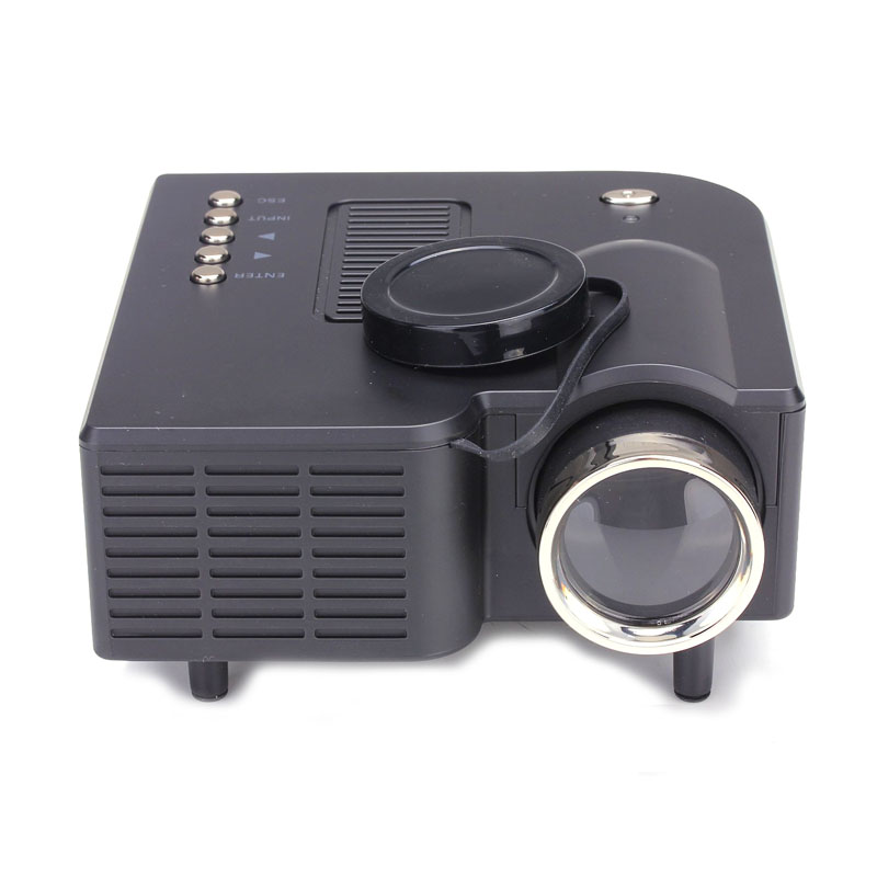 Hl hd 1080p led multimedia mini projector home theater for Hdmi mini projector reviews