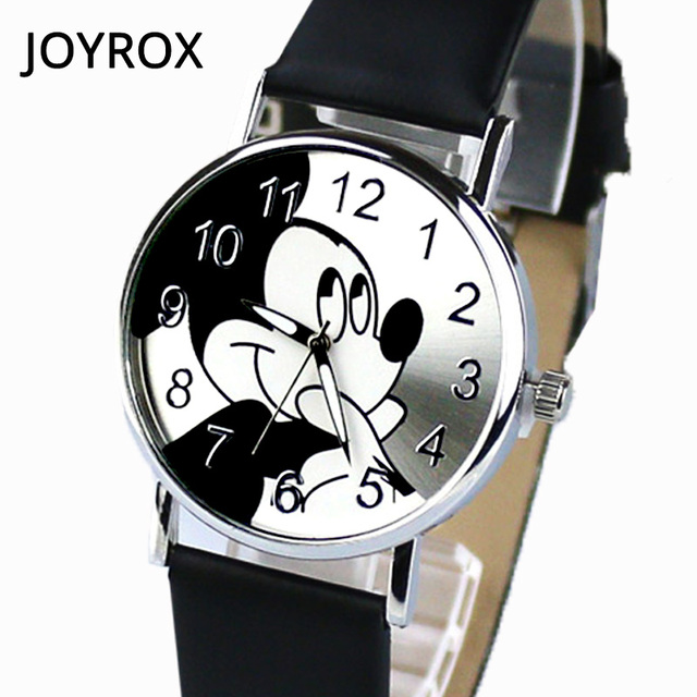 JOYROX Women Watches Leather Strap Quartz Women Watch Cartoon Pattern Women Cloc