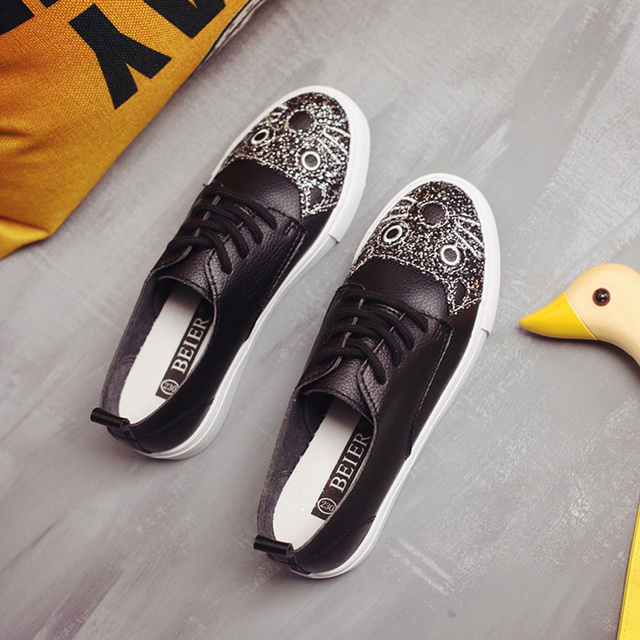 free shipping 2017 spring new fashion women shoes flats casual sport breathable PUcute cat shoes women casual brand shoes