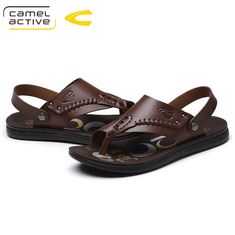 ce3b8fa47d62 Camel Active NEW Top Quality Split Leather Men Sandals Handmade Men Shoes  Summer Soft Leather Shoes
