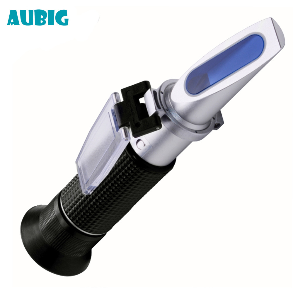 AUBIG De Poche Alcool Réfractomètre 0-80% ATC Esprits Testeur Alcoomètre Refratometro Vin Concentration Densimètre avec la Boîte