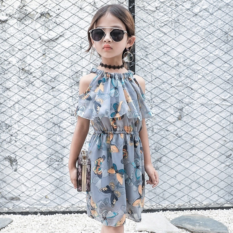 Fashion Girl Dress Children Sleeveless Mesh Lace Party Dresses girls Strapless floral dresses 3-12 years old children clothing