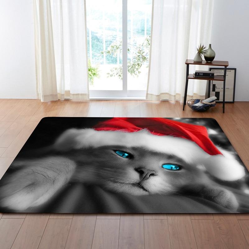 3D Cute Animal Cat Cartoon Printing Modern Carpets For Living Room Children's Rug Bedroom Floor Carpets Large Burrito Blanket