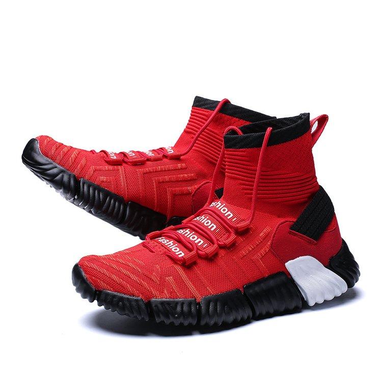 Spring Streetwear High Top Sneakers Men Casual Shoes