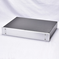 KYYSLB 430*70*308mm Panel ranurado todo amplificador de aleación de aluminio chasis Preamp decodificación DAC amplificador carcasa DIY caja