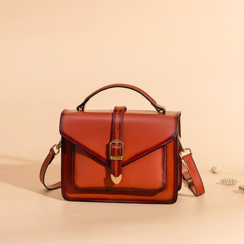 LOEIL Bag female 2018 new Messenger bag female cowhide retro small square bag fashion handbag shoulder bag tide цена