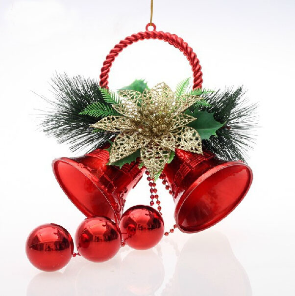 Good Christmas Indoor House Decorations #2: 10CMX26CM-Plastic-bell-Christmas-jingle-Bells-gift-Sheet-Ornament-For-christmas-Tree-House-Indoor-Decoration-Free.jpg