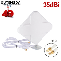 35dBi 4G Antenna TS9 Connector External Indoor WIFI Signal Amplifier ANT for Huawei E589E392 ZTE MF61MF62 aircard 753s754s760s