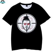 EMINEM famoso rapero 2018 niños verano Camisetas manga corta cuello redondo moda  3D impresión Hip Hop camisetas EMINEM Casual ni. 1144cd09213