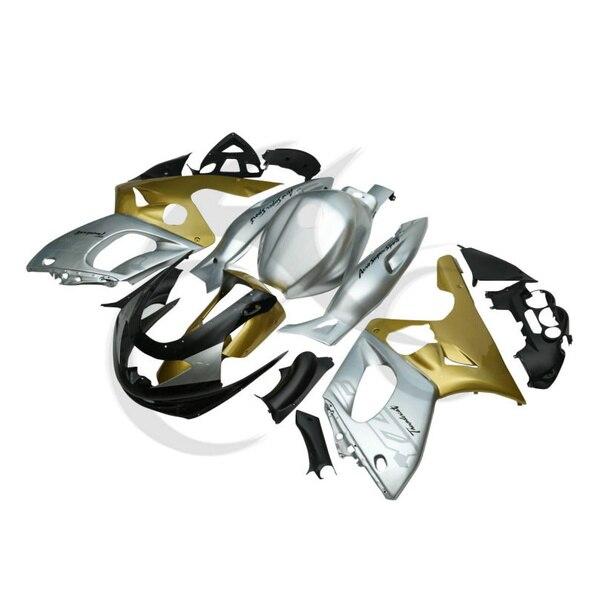Золото серебро ручной работы АБС Кузов комплект Обтекателя для YAMAHA YZF600 YZF600R 97-07