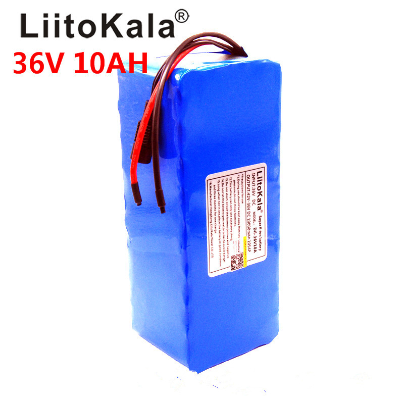 Liitokala 36V 10AH bike electric car battery scooter high capacity lithium battery does not include the 42v charger in Battery Packs from Consumer Electronics