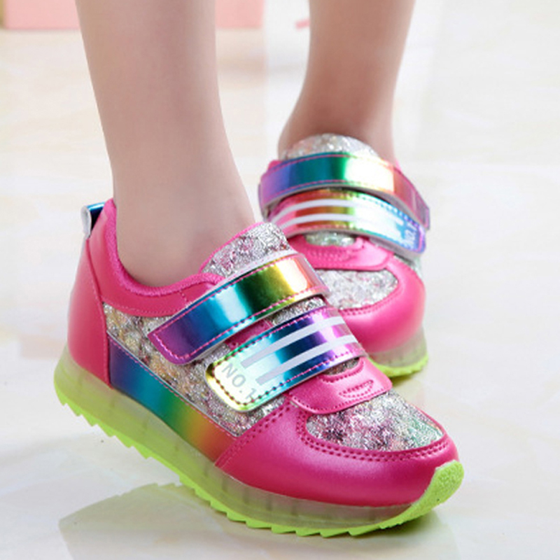 Colorful School Student Shoes For Teenager Girls Sneakers PU Leather Kids Girl Shoes Casual Sport Sneaker TX162