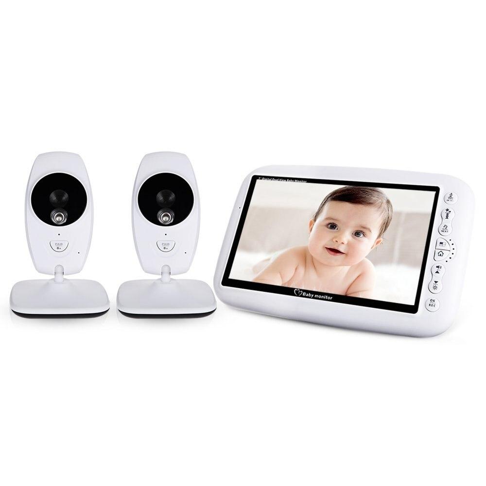 Babykam baba eletronica détecteur fœtal 7 pouces IR veilleuse vision bébé interphone berceuses capteur de température cri bébé moniteur