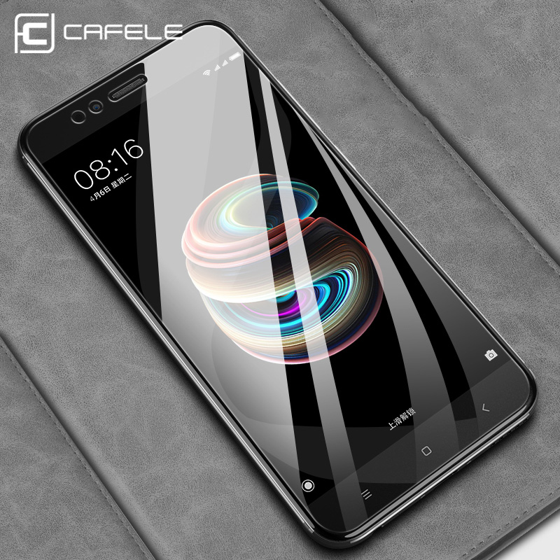 Cafele Mobile Screen Protectors for Xiaomi MI A1 Tempered Glass Protector 5X 9H Hardness Bubble Free