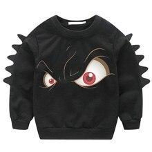Дети для маленьких мальчиков с изображением животных Пуловер с рисунками из мультфильмов, свитер верхняя одежда, наряд Толстовка для мальчиков Дети, детские свитеры для мальчиков и девочек
