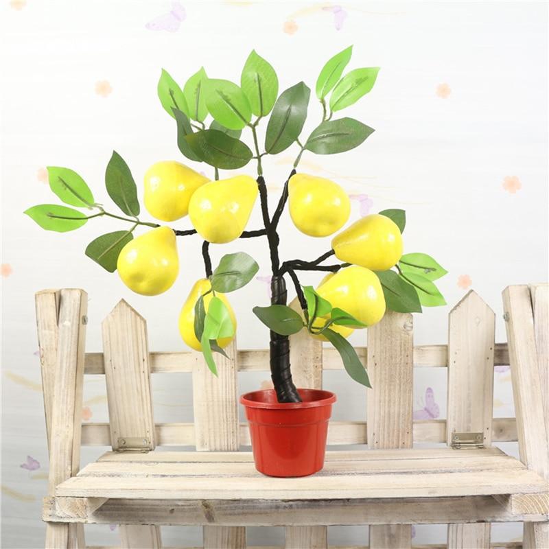 Garden Greenplant Bonsai Simulation Flower Mini Foam Decoration Plant Fake Trees Potted Plants Fruit Trees Apple Peach Orange