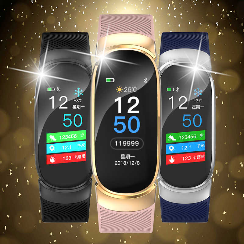 LIGE 新規スマート腕時計女性 IP68 スマート心拍睡眠モニター情報コールリマインダスマートスポーツスマートバンド男性 + ボックス