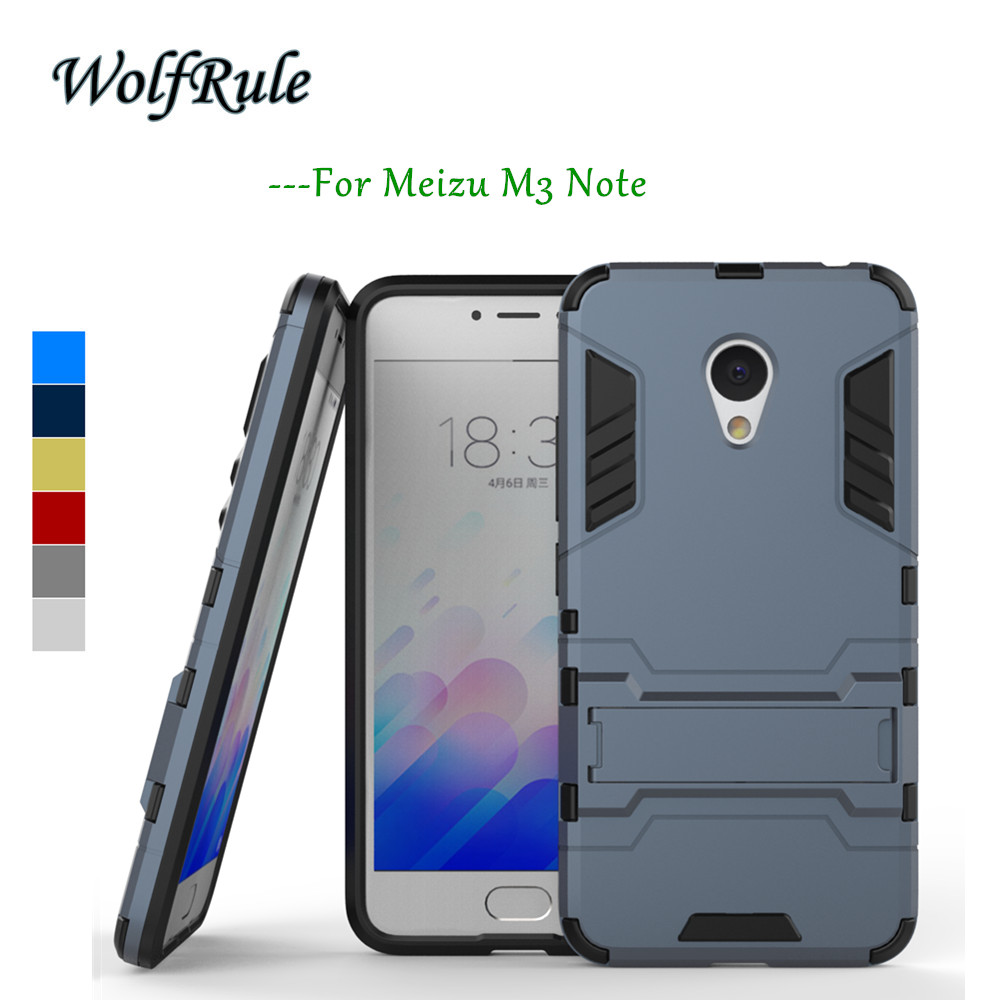 Telefon Case Meizu M3 Note Cover Blødt silicium & Slim plastkasse til Meizu M3 Note Case WolfRule Anti-knock Holder Stand <