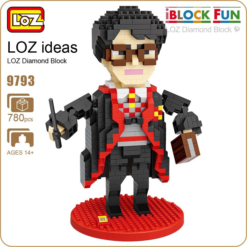 LOZ Blocks Character Anime Magician Movie Action Figure Block Plastic Assembly Toys Educational Diamond Block Nano Brick 9793