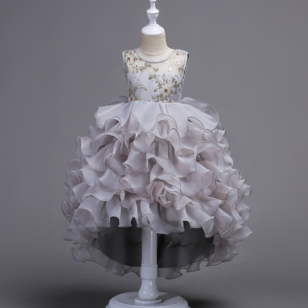 European and American children 39 s dress wedding dress Princess children 39 s dress girl 39 s hook flower tail dress flower in Dresses from Mother amp Kids