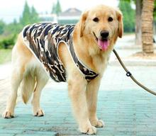 1pcs large dogs fashion camouflage breathable vest clothes big dogs summer style vests costume pet t shirt clothing 3XL-7XL(China)