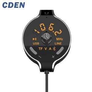Автомобильный беспроводной Bluetooth FM передатчик автомобильный комплект громкой связи mp3-плеер батарея напряжение дисплей Поддержка двойной ...
