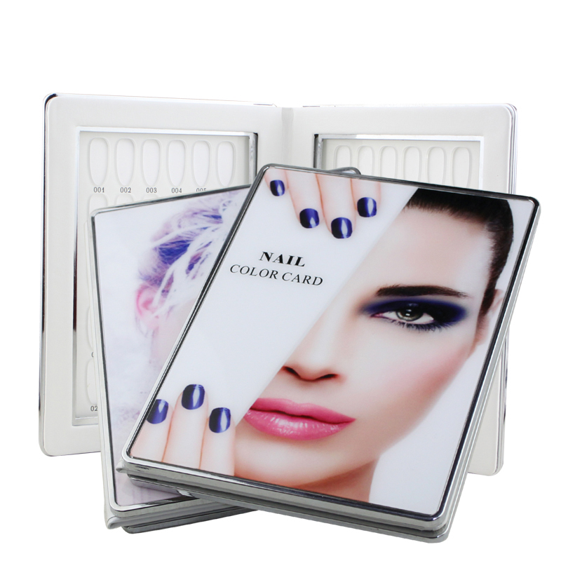 60/80/96//120/160 Colors Nail Art Book Acrylic Nail Gel Polish Display Card Color Board Salon Manicure Tools With Full Nail Tips 60 160 80 180x