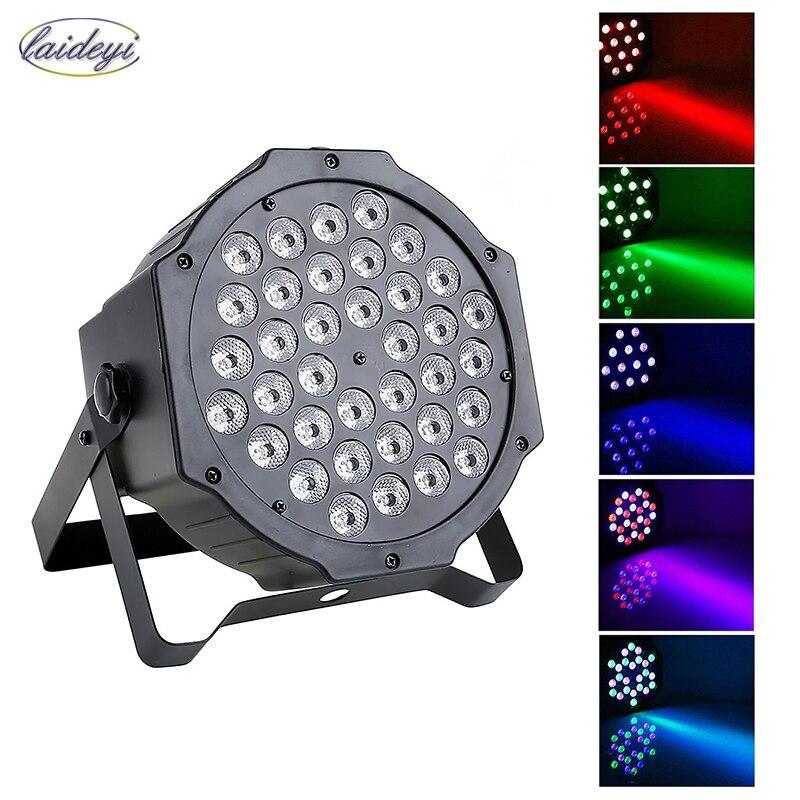 Laideyi 36 RGB LED Свет этапа эффект лазерного партии Дискотека DJ Бар Effect Up Освещение DMX лампа проектора КТВ партия свет