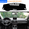 2016 Car Styling Dashboard Protective Mat Shade Cushion Photophobism Pad Interior Carpet For Audi A3 S3 2014-2017