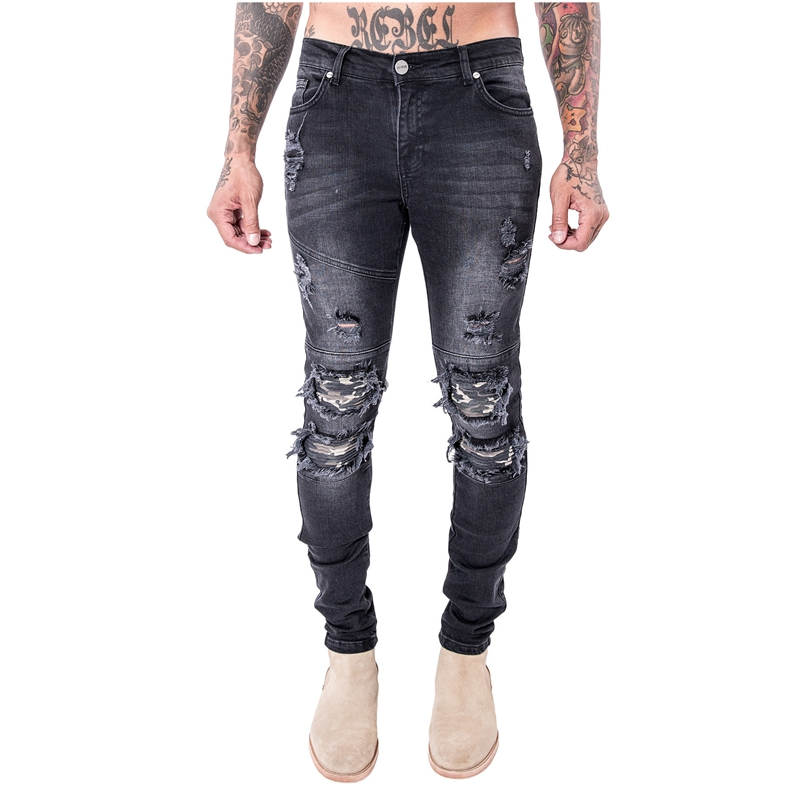 Online Get Cheap Ripped Skinny Jeans Black -Aliexpress.com ...