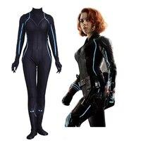New High Quality Avengers: Infinity War Black Widow Cosplay Costume Scarlett Johansson Zentai Halloween Jumpsuits Bodysuits