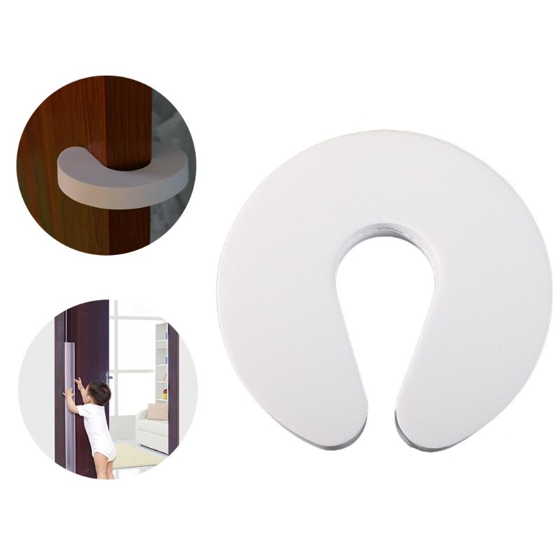2pcs Foam Door Stopper EVA Kids Finger Safety Guard C Shaped Anti Slamming Doors Baby Hands Protector