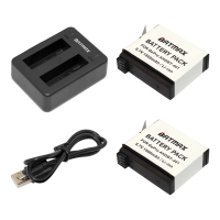 Batmax 2pcs AHDBT 401 AHDBT401 AHDBT401 Gopro Hero 4 Battery Dual Charger Port Home Charger For