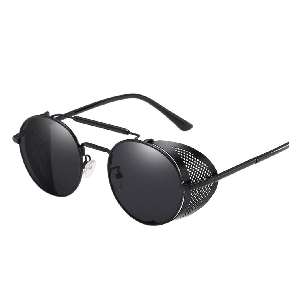 153a0b3753412 Steampunk Sunglasses Women Round Glasses Goggles Men Side Visor ...