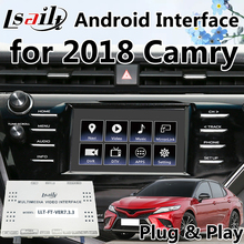 Plug & Play Android gps навигационная коробка для 2018 Camry интеграции Mirrorlink, wifi, онлайн карта, Bluetooth OEM Кнопка управления