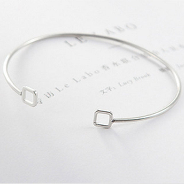 Adjustable Square Wire Bracelets Open Wire Cuff Bracelet Bangles For ...