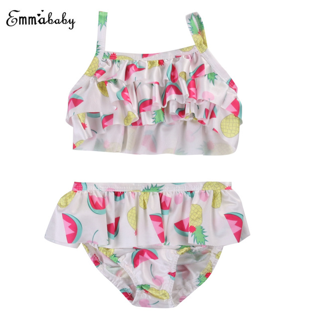 6f8c54933ff 2PCS Set Wartermelon Printed Girls Clothing Newborn Infant Baby Girl Clothes  Cami Crop Top+Floral Shorts Sleeveless Clothes Set