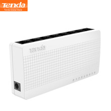 Tenda S108 Ethernet Switch, 8 Port Desktop Ethernet Netwerk Switch, 10/100Mbps Lan Hub, kleine En Slimme, Plug En Play, Eenvoudige Installatie(China)