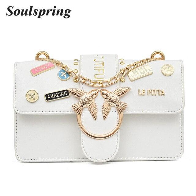 SOULSPRING Fashion Brand Woman's Handbags Purses Crossbody Bags For Women 2018 Ladies Luxury PU Leather Shoulder Messenger Bag