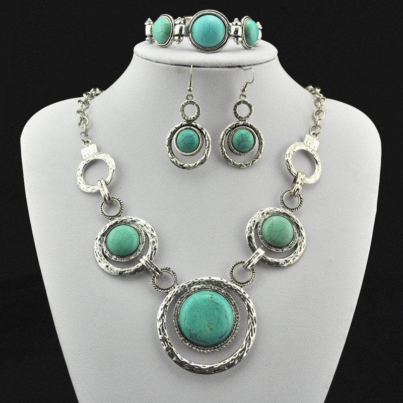 S266 Necklace Pendant & Bracelet & Earring, Jewlery Set,Women Gift,Vintage Look,Tibet Alloy