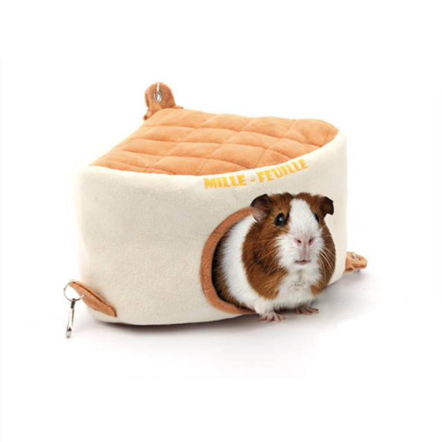 Pet Products Small Animal Triangle Cake Cute Cage For Hamster Small Guinea Pig Hedgehog Ferret Chinchilla Gerbil Small Pet House