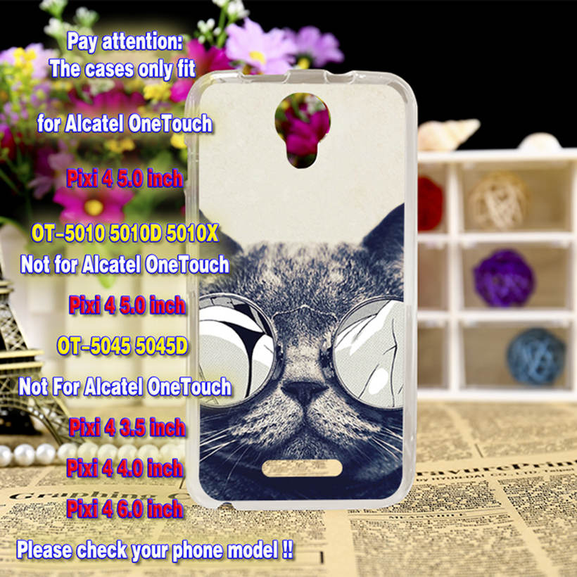 US $1 82 |Akabeila Case Cover For Alcatel OneTouch Pixi 4 Phone Cases OT  5010 5010D 5010X 5010S 5010U 5010A OT5010D 3G Hard Plastic Shell-in Fitted