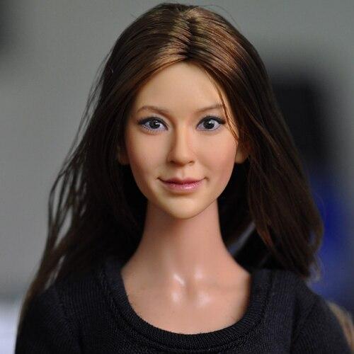 1/6 KM13-96 femme tête sculpter asiatique beauté tête sculpture modèle jouets pour 12in Action Figure loisirs Collection