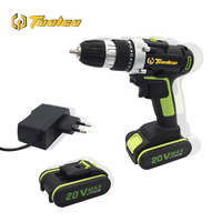 Toolgo 20V Electric Cordless Impact Drill Lithium Battery DIY Power Driver Variable Speed Electric Screwdriver with LED Light