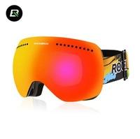 ROCKBROS Man Women Glasses Ski Goggles Anti Fog Snow Skiing Glasses Windproof Cycling Glasses Myopic Skiing