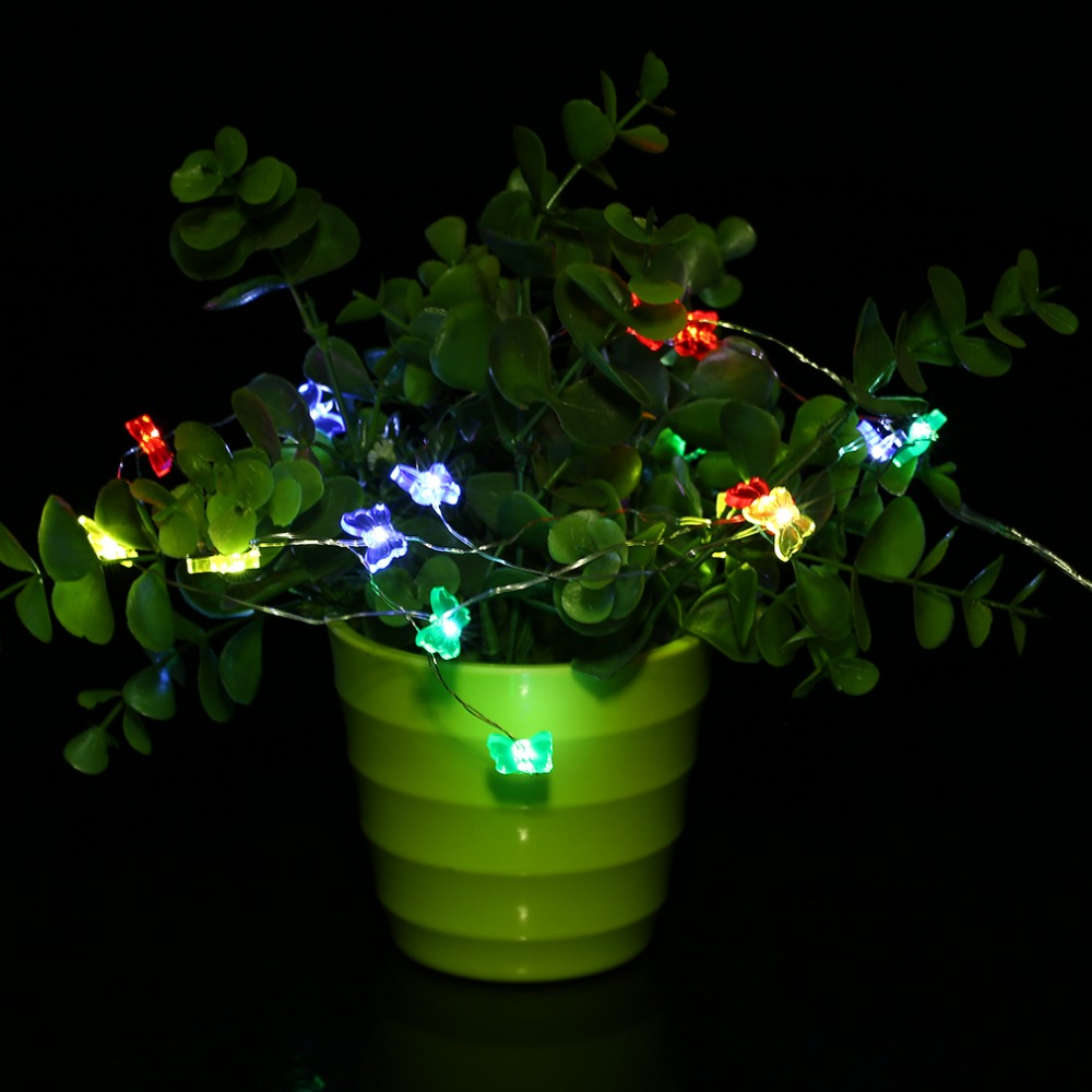ICOCO Butterfly Shape 3M 30LED Super Bright Button Battery String Light Festival Wedding Party Decoration Fairy String Light