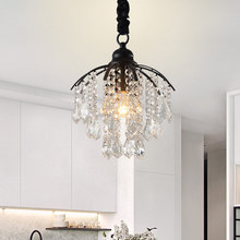 American Crystal Chandelier Corridor porch Cloakroom Creative Balcony Small chandelier Restaurant Study Bedroom E27(China)
